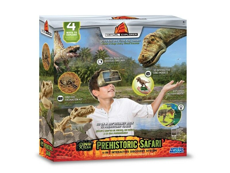 4 Uncle Milton Virtual Explorer Prehistoric Safari 4-1 handson play learning sys