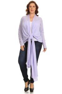 CANARI-Women-Plus-Size-Wrap-Cardigan-Sweater-Draped-Open-Front