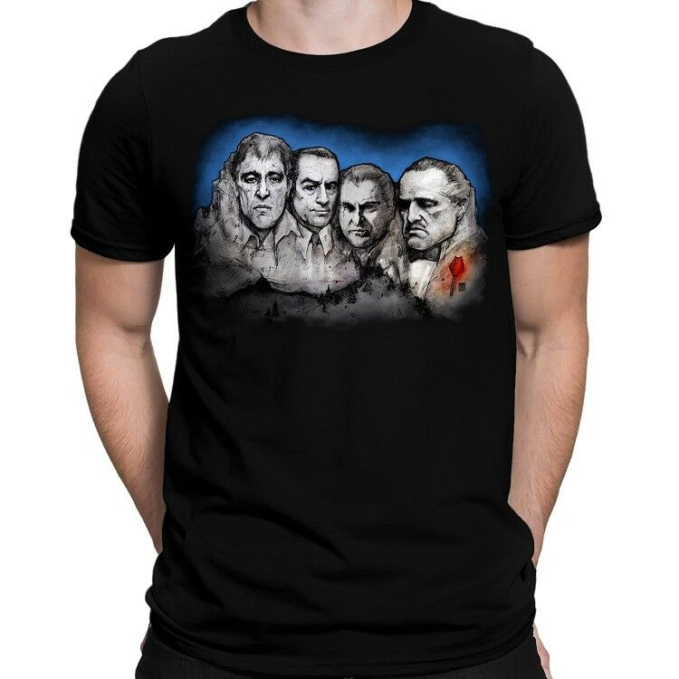 Original Gansters The Godfather Scarface On Mount Mobmore Adult T Shirt