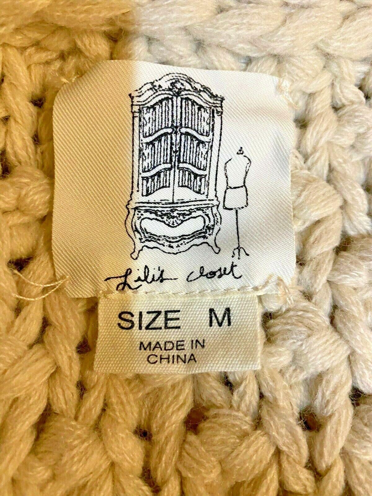 Anthropologie Pelage Crochet Sweater Vest Medium … - image 2