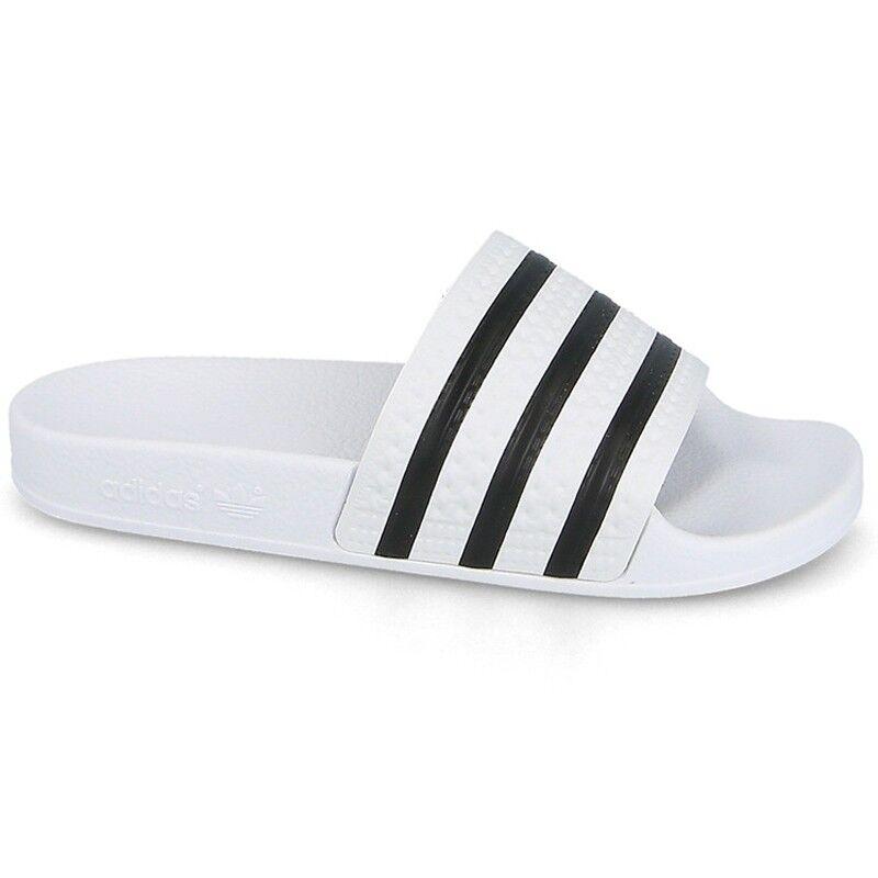 Adidas Originals Pantoufle Caoutchouc Adilette 280648 Blanc/noir Modèle 280648