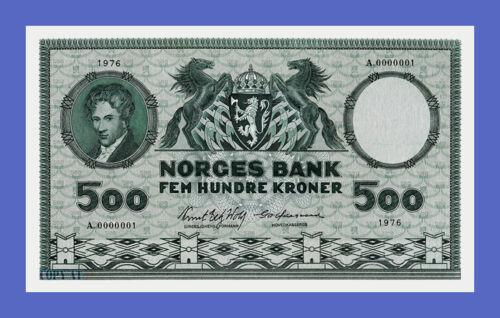 Reproductions 500 Kroner 1976s See description!!! NORWAY
