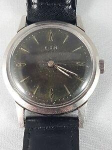 Elgin-wrist-watch-men-039-s-collector-working-watch