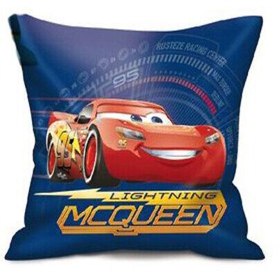Entusiasta Cuscino Imbottito Cars Saetta Mcqueen Lightning Blu In Poliestere Con Licenza.