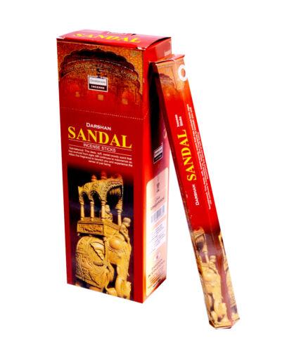 6 Box//Pack 120 Sticks total Sandal Darshan Quality Incense Fragrance