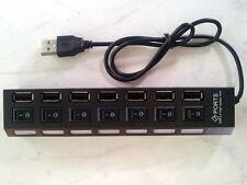 USB 2.0 HUB 7-Port einzelnen Hub Schaltern LED PC Laptop Win 7 Mac USB Verteiler