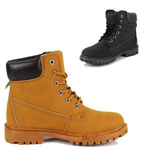Zapatos Mujer Hombre Atado Botas Ecopiel Militares qvwIx4Ea