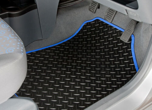 2598 TAILORED RUBBER CAR MATS WITH BLUE TRIM 2011 ONWARDS TOYOTA AVENSIS