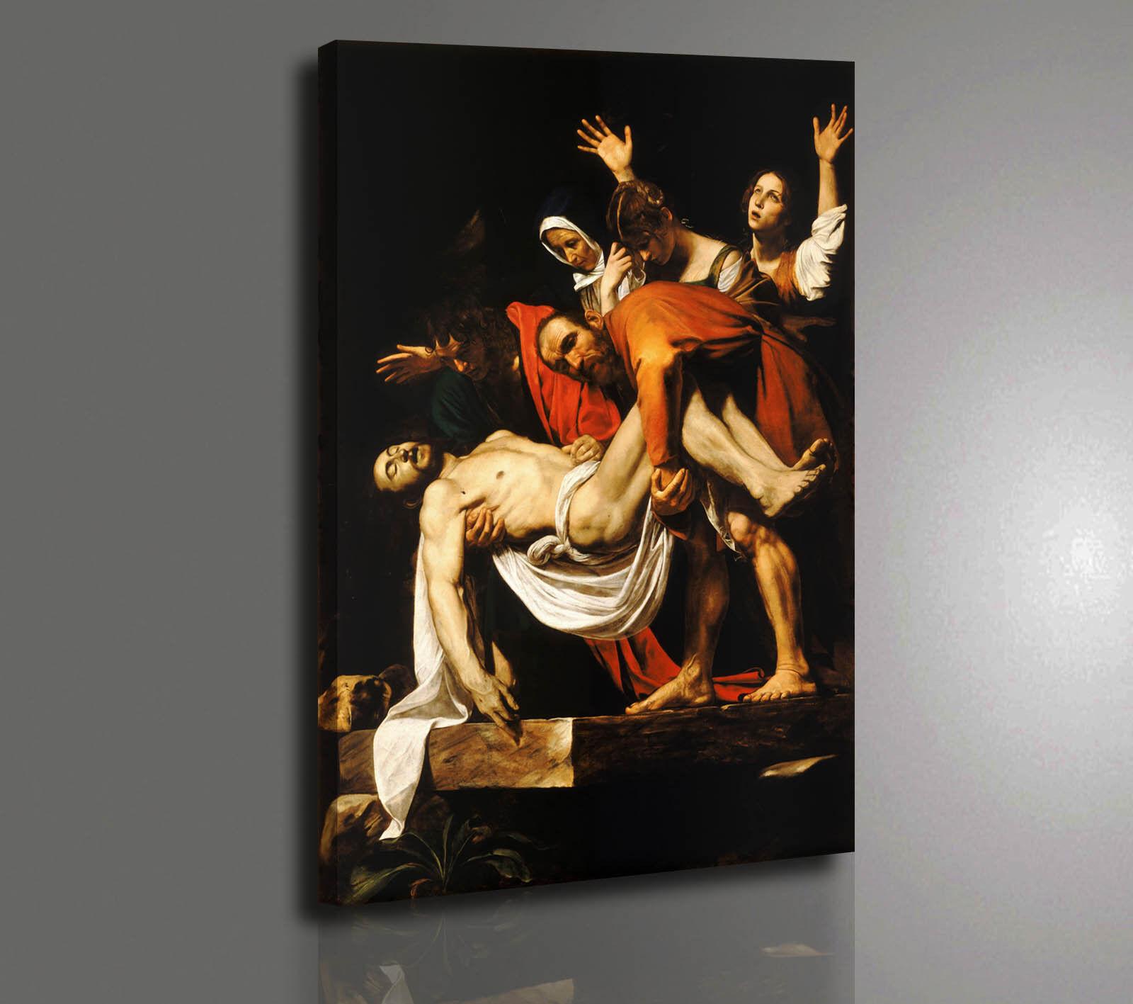 Quadro Caravaggio Deposizione dalla Croce Stampa su Tela Vernice Pennellate