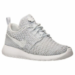 46db7a4acbd9 AUTHENTIC Nike Roshe Run One Flyknit Wolf Grey White 704927 002 ...