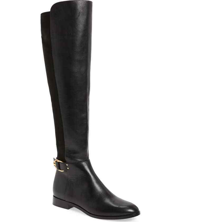 centro commerciale di moda Tory Burch Burch Burch MARSDEN Stretch Riding stivali Flat Equestrian avvioies 7.5 Over Knee  acquista online