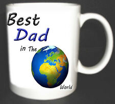 BEST DAD IN THE WORLD COFFEE MUG.GIFT PERSONALISED WITH NAMES FREE OF CHARGE
