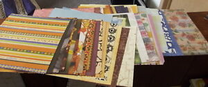 50-Mixed-Lot-of-12-x-12-Scrapbook-Paper-amp-Cardstock-including-special-papers