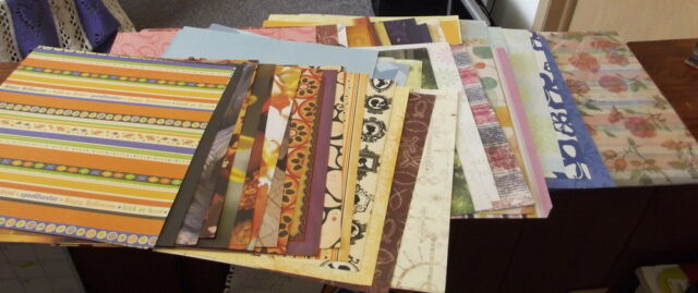 50+ Mixed Lot of  12 x 12 Scrapbook Paper & Cardstock including special papers