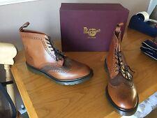 Dr Martens Anthony brown brogue leather boots UK 11 EU 46 England mod ska