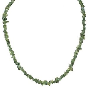 """CHARGED Rare Dark Green Apatite Crystal 18"""" Necklace Healing Energy REIKI WOW!!!"""