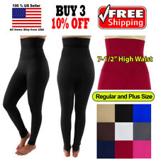 Women Slim High Waist Tummy Control Compression Body Shaper Fleece Leggings