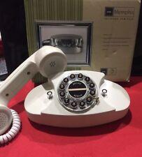 telefono fisso con filo RETRO' memphis MASTER ITALY telefono antico bianco panna