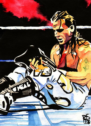 Poster Painting WWE WWF HBK DX Heartbreak Kid Shawn Michaels 18 x 24 Print