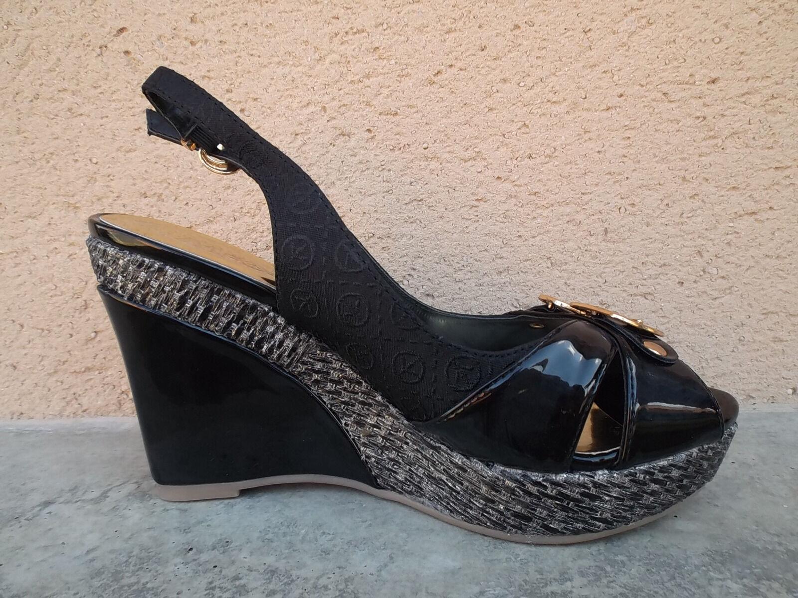 Sandales compensées MOSQUITOS noir 37