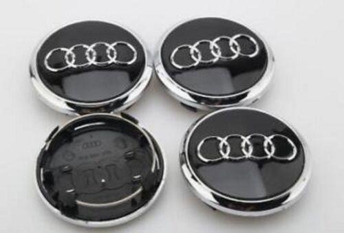4x Nabenkappen Nabendeckel AUDI Q7 77mm SCHWARZ Radkappe 4L0601170 Embleme