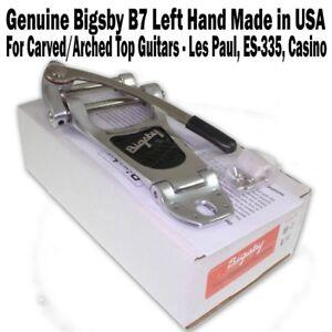 Genuine-BIGSBY-B7-Vibrato-Tailpiece-Aluminum-LEFT-Hand-for-Les-Paul-ES-335-LEFTY