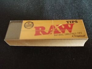 1 x Raw Regular Size Filter Tips Unrefined Natural Organic - 50 tips / pack