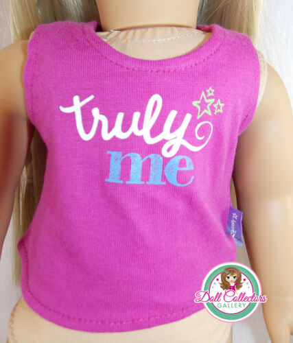 """American Girl TRULY ME EVENT TEE for 18/"""" Dolls Truly Me Tank Top Clothes NEW"""