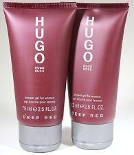 2 Pieces Hugo Boss Deep Red 2.5/2.6oz. Shower Gel For Women New & Unbox
