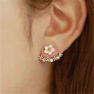 Women-Rhinestone-Crystal-Daisy-Flower-Ear-Stud-Elegant-Earrings-Jewelry-Gift-New