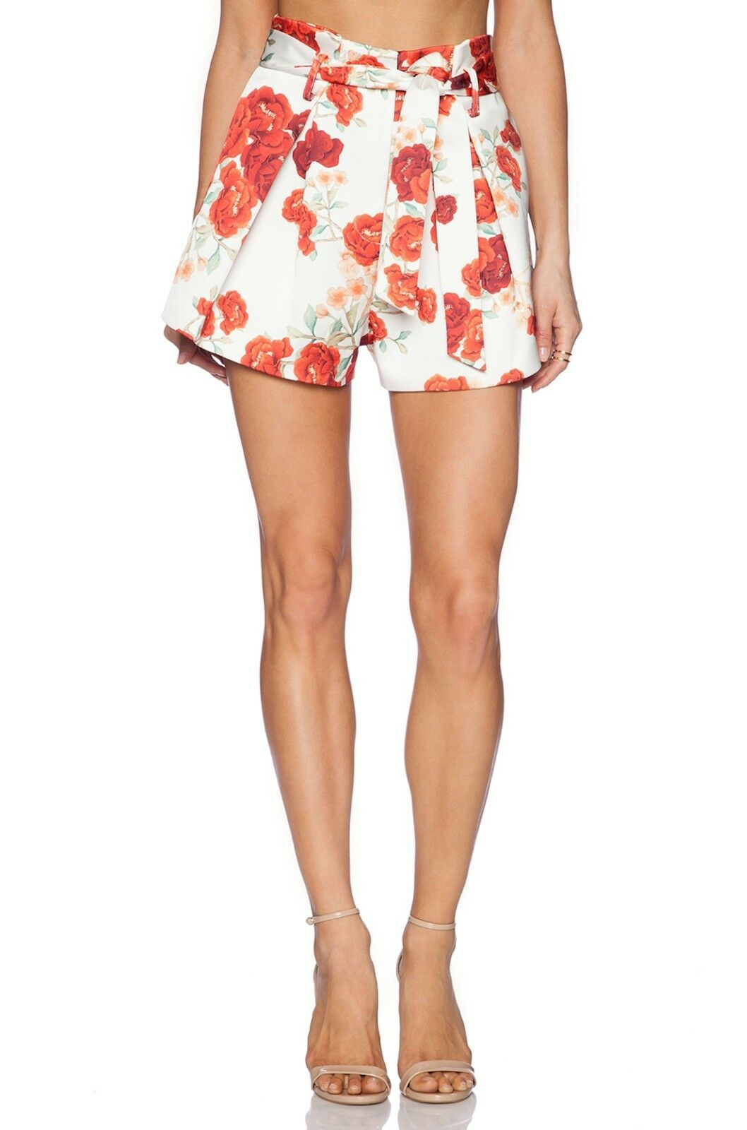 Cameo C MEO Collective The Label  Clique Dress Shorts Red Floral Sz XS  168 NWT