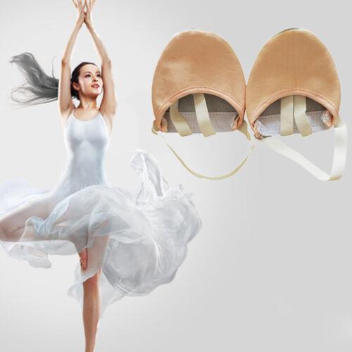 Half Lyrical Leather Sole Pointe ballet Dance Shoes Rhythmic Gymnastics new