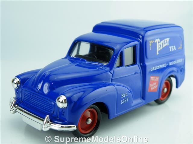 TETLEY TEA MORRIS MINOR VAN MODEL 1 43RD SCALE blueE COLOUR EXAMPLE T3412Z(=)