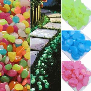 10PCS-Glow-Stone-Fish-Tank-Aquarium-Garden-Decor-Glow-in-the-Dark-Pebbles-Stones
