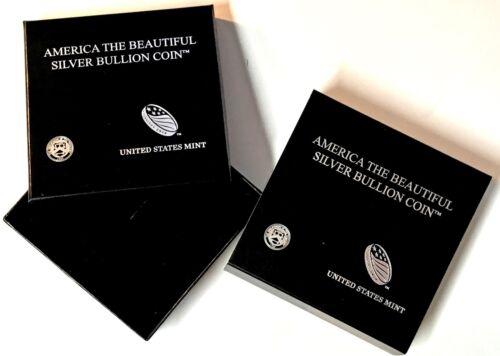 America the Beautiful Five Ounce Silver Bullion Presentation Case  5 oz ATB box