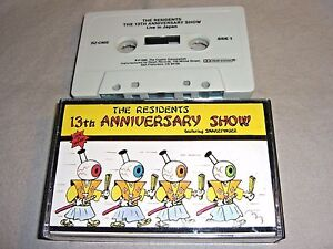 THE RESIDENTS 13th Anniversary Show Live in Japan 1986 CASSETTE TAPE album NM/NM