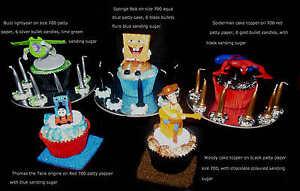 BUZZ-WOODY-SPONGEBOB-SPIDERMAN-CUPCAKE-TOPPERS-BIRTHDAY-DECORATION-CAKE-KITS