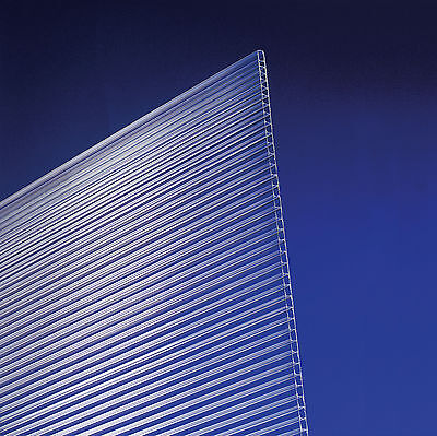 (12,70 €/m²) Stegplatten Hohlkammerplatten Polycarbonat 4,5 mm klar 200 x 105 cm