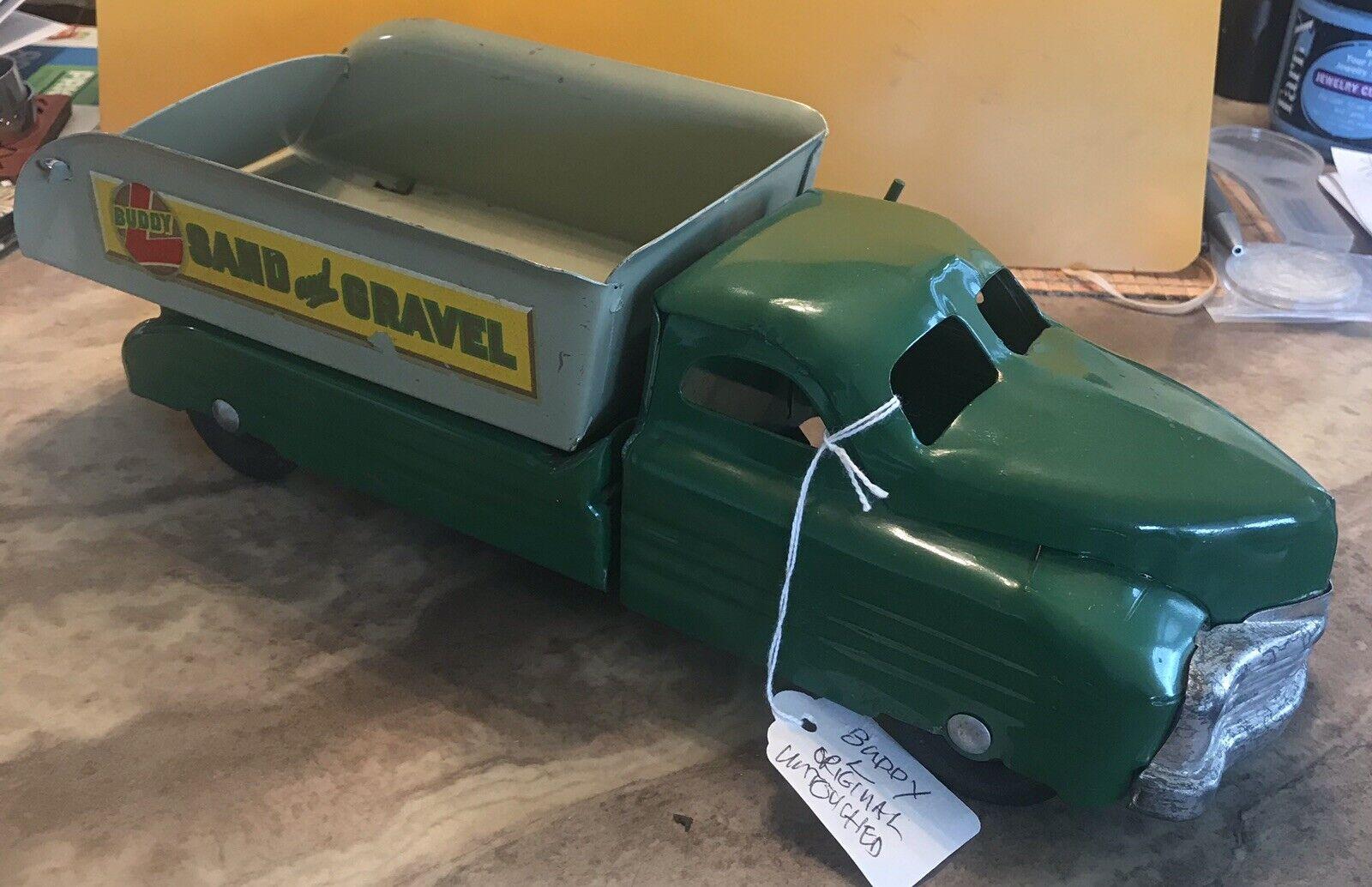 Impresionante cosecha 1940 Buddy L arena Y Gravilla Camión Todo Original    Raro