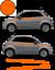 Fiat-500-Autocollant-Bandes-Stickers-adhesifs-decoration-couleur-au-choix miniatura 8