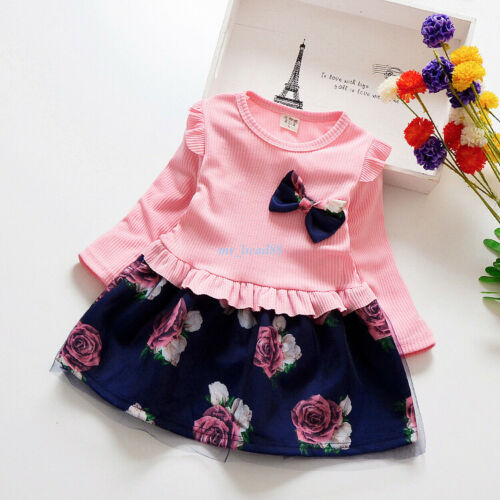 Toddler Kids Baby Girls Summer Outfits Clothes T-shirt Tops Skirt Dress Set