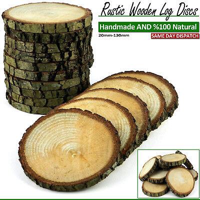 WOODEN LOG DISCS OAK BEECH WOOD SLICE SLAB PRICE TAGS DECOR WEDDING 20-200 mm