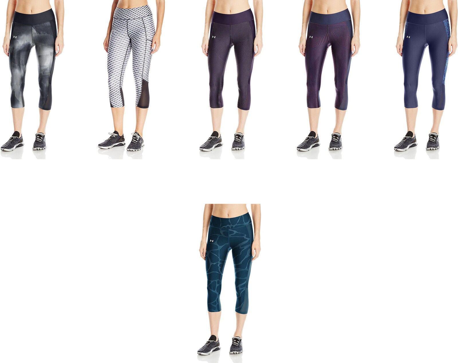 0834074afa48fa Details about Under Armour Women's Fly-By Printed Capri, 8 Colors