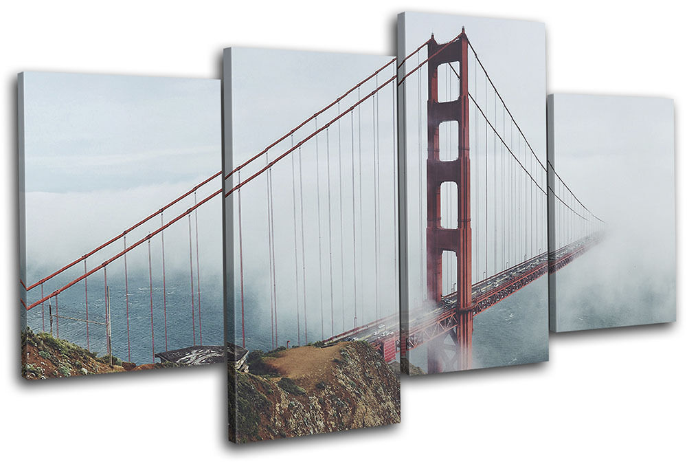 Golden murale Gate Bridge San Francisco City MULTI TOILE murale Golden ART Photo Print 69f4ce