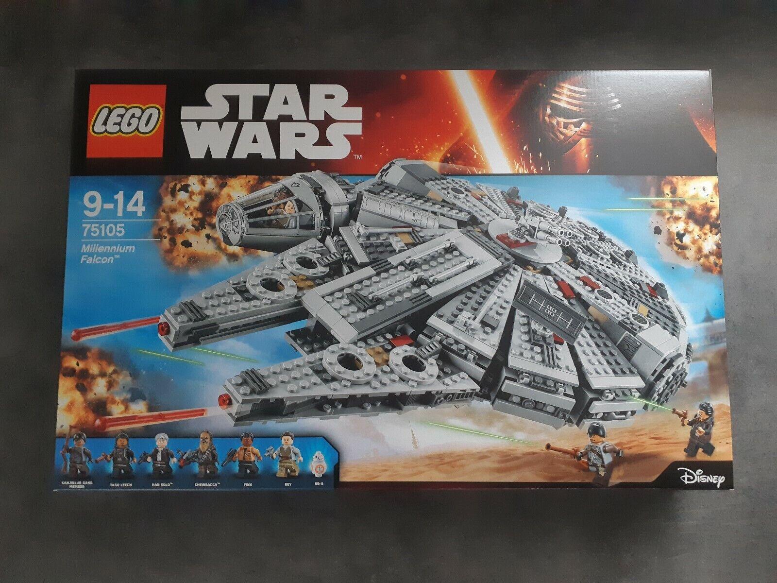 Lego Stern Wars 75105 Millenium Falcon Neuf   New