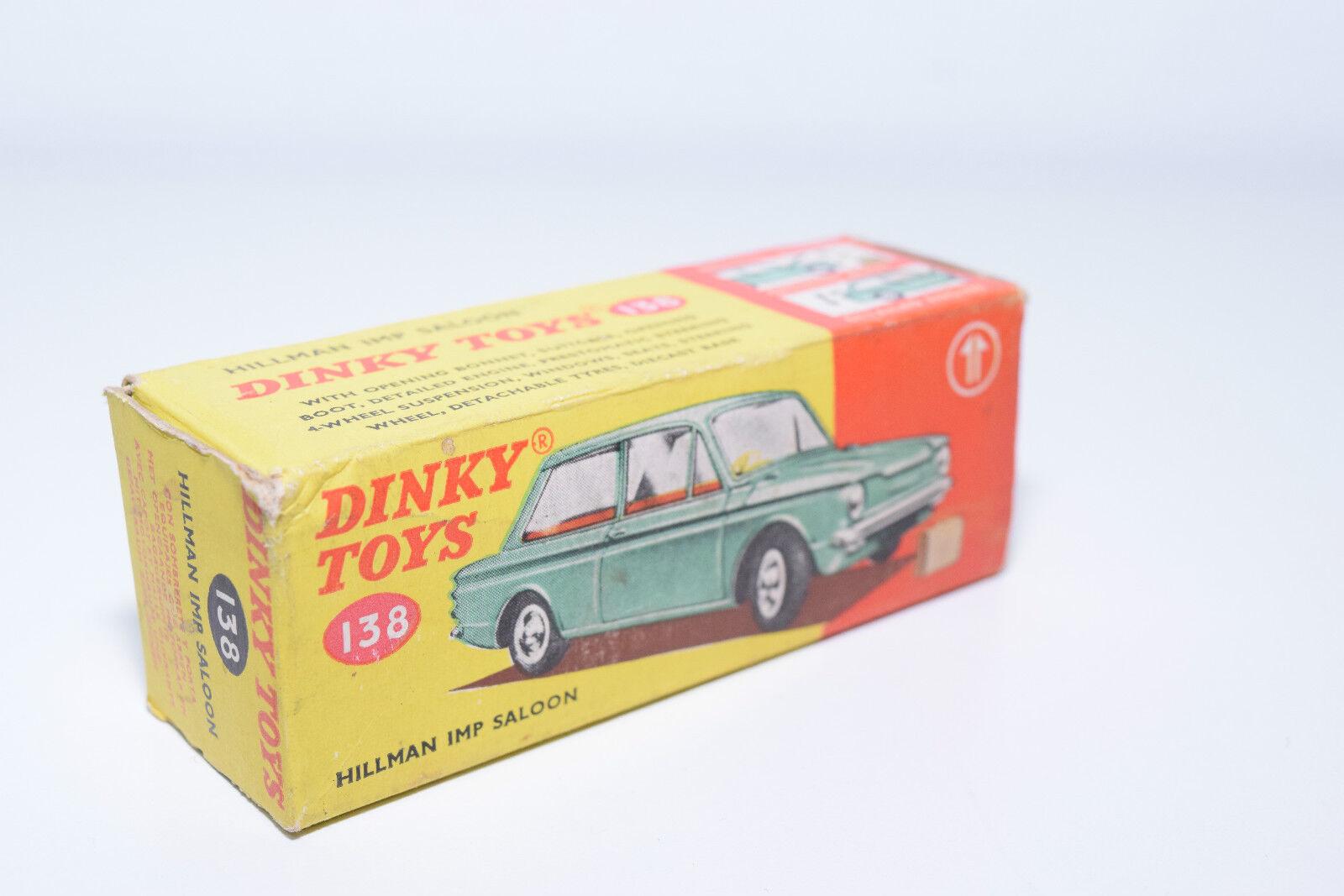 DINKY TOYS 138 HILLMAN IMP SALOON ORIGINAL EMPTY BOX EXCELLENT