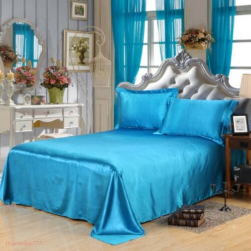 Pure Silk Sheets Queen King Fashion All Size Bedding Solid Bedroom Leisure Home