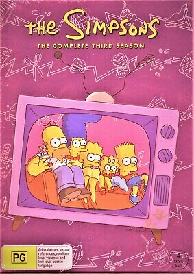 The Simpsons The Complete Season 3 Dvd Tv Series 4 Discs Box Set Brand New R4 9321337029085 Ebay