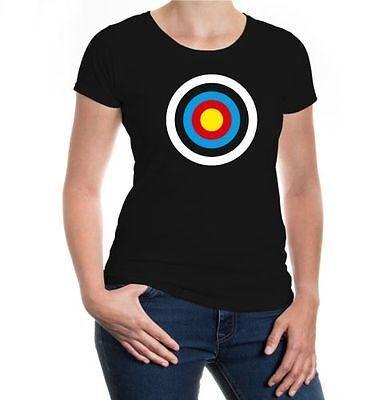 Da Donna A Maniche Corte Malvagia T-shirt Bersaglio Sparare Arco Freccia Arco Majówki-