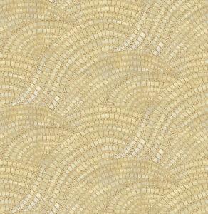 Tapete-Designtapete-Mosaik-Boden-AlHambra-Schimmer-Caffe-Latte